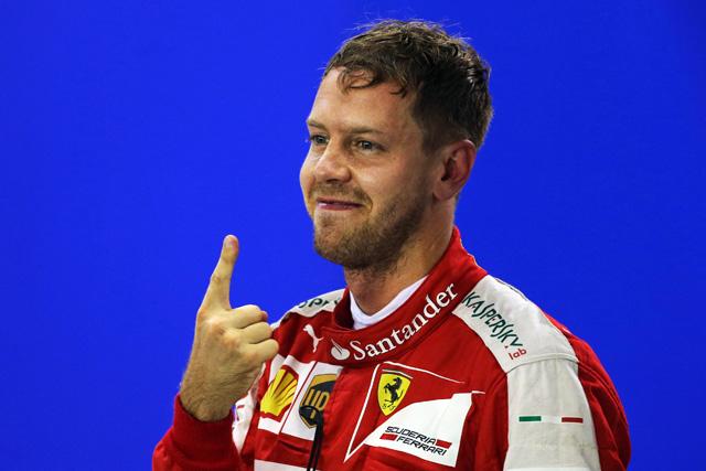 F1 | 跳ね馬ベッテルが初PP、キミ3番手。メルセデス絡めず