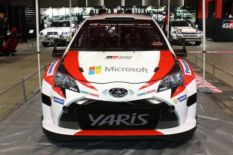 ラリー/WRC   カラーリングも初公開。トヨタ、ヤリスWRCを東京オートサロン2017で国内初披露