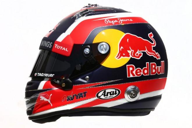 F1 | ダニール・クビアト 2016年のヘルメット1