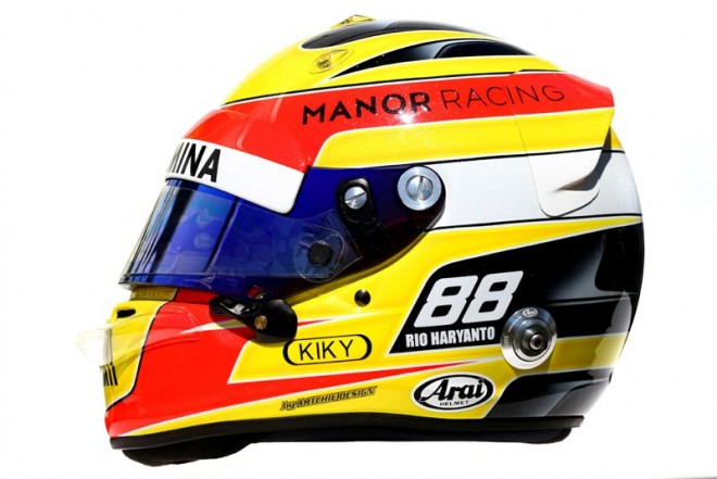 F1 | リオ・ハリアント 2016年のヘルメット1