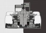 2017年F1マシンの予想イラスト(左)
