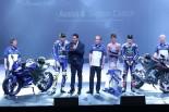 発表会やメディアイベントに参加したバレンティーノ・ロッシとマーベリック・ビニャーレス