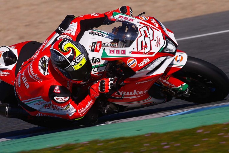 MotoGP | SBK:へレステスト2日目は新たな体制となったアプリリアが好走。トップはレイ