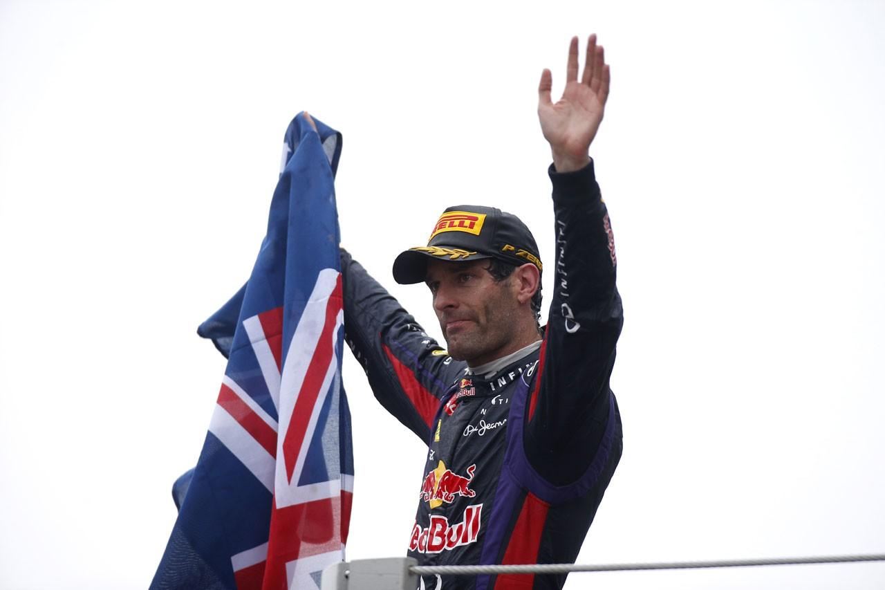 2013年ブラジルGP マーク・ウエーバー、F1ラストレースで2位表彰台に