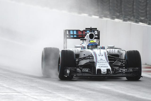F1   雨のFP2はマッサがトップ。アロンソにトラブルか
