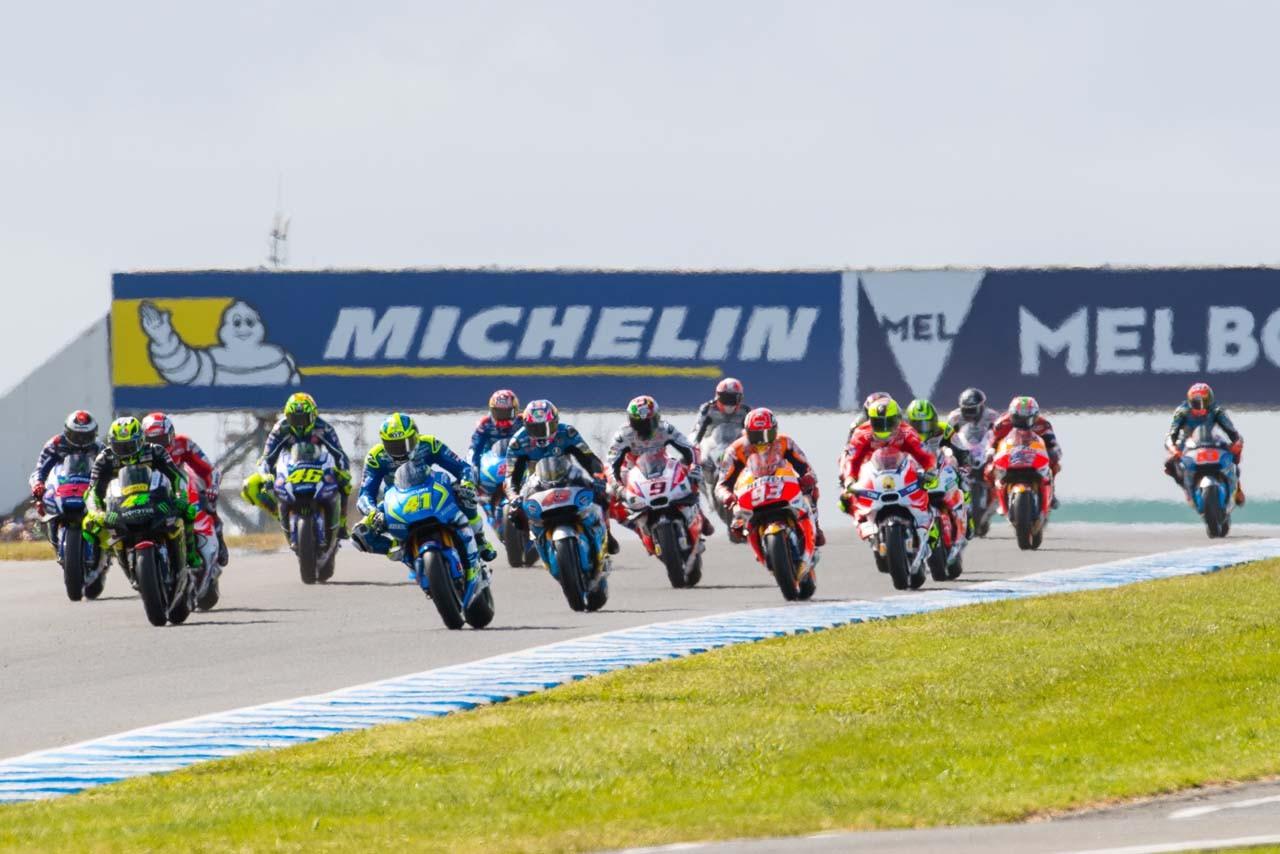 MotoGP走行シーン