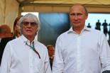 バーニー・エクレストンとロシア大統領ウラジーミル・プーチン