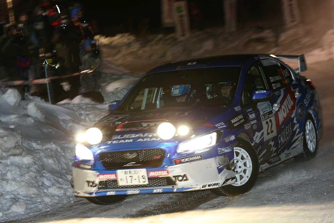 全日本ラリー:雪中の開幕戦は勝田が制すも、リザルトに異議提出で暫定扱い