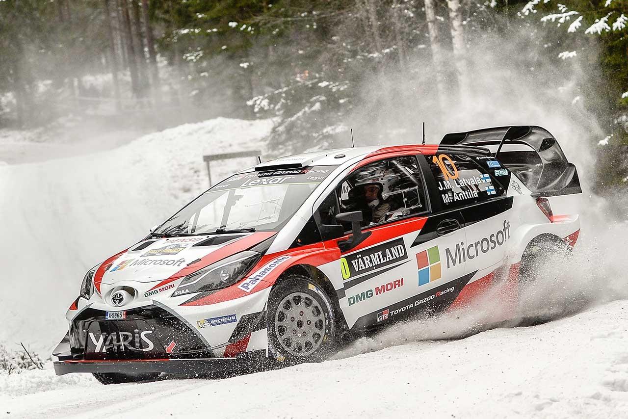 WRCスウェーデン:シェイクダウンは今季初戦のオストベルグ最速。トヨタ10番手