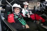 2月2日のプレスカンファレンスでヤリ-マティ・ラトバラのコドライバーを務めた豊田章男社長