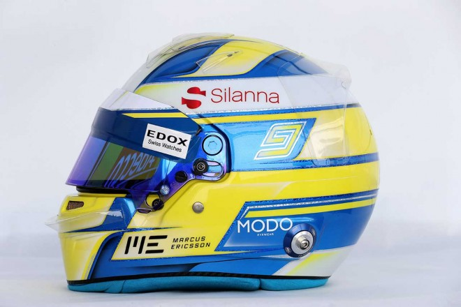 F1   マーカス・エリクソン(Marcus Ericsson) 2017年のヘルメット1