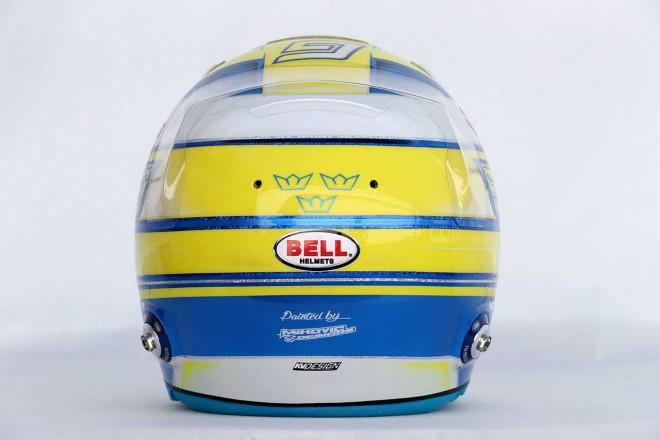 F1   マーカス・エリクソン(Marcus Ericsson) 2017年のヘルメット3