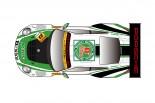 スーパーGT用ポルシェ911 GT3 Rのマシンカラーリング。ei8htが手がけた。