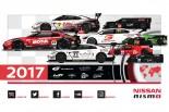 2017年のニッサングローバルモータースポーツ活動のイメージグラフィック。MOTUL AUTECH GT-Rのカラーリングも分かる。