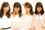 2017ドリフトエンジェルスを務める安田七奈さん、村上麻莉奈さん、神尾美月さん、横田りかさん(左から)
