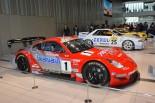過去のニッサンのレーシングカーもイベント会場内に展示された。
