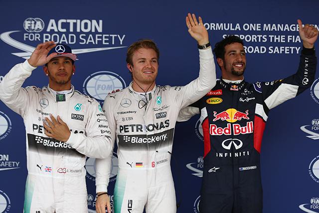 F1 | Q2最速のロズベルグが3戦連続PP、Q3は中止