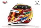F1 | ハミルトン、F1新ヘルメットはセナ・トリビュートデザインに。8000以上の応募作から選ぶ
