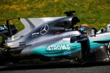 F1 | メルセデスF1、シャークフィンをテスト。ハミルトン「僕らの新車はライバルより1000倍かっこいい」