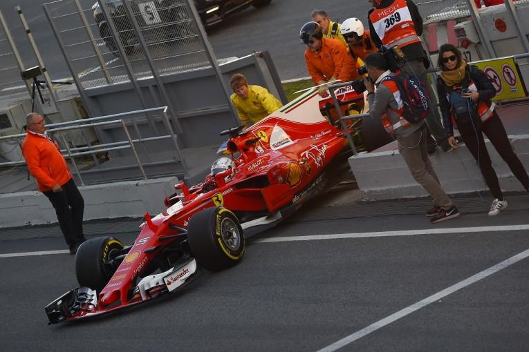 F1 | 厳戒態勢のフェラーリF1、テストで初のメディア対応。ベッテルがマシンストップに言及