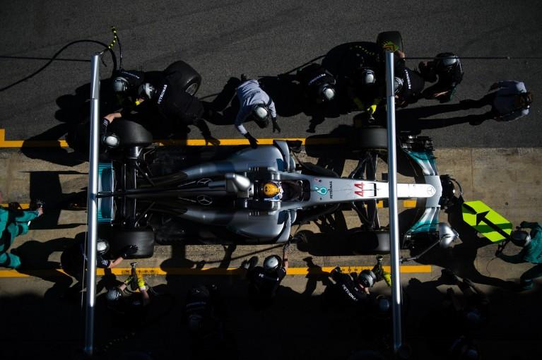 F1 | メルセデスF1、ボッタスがトップ、ハミルトンは今年初のレースシミュレーション