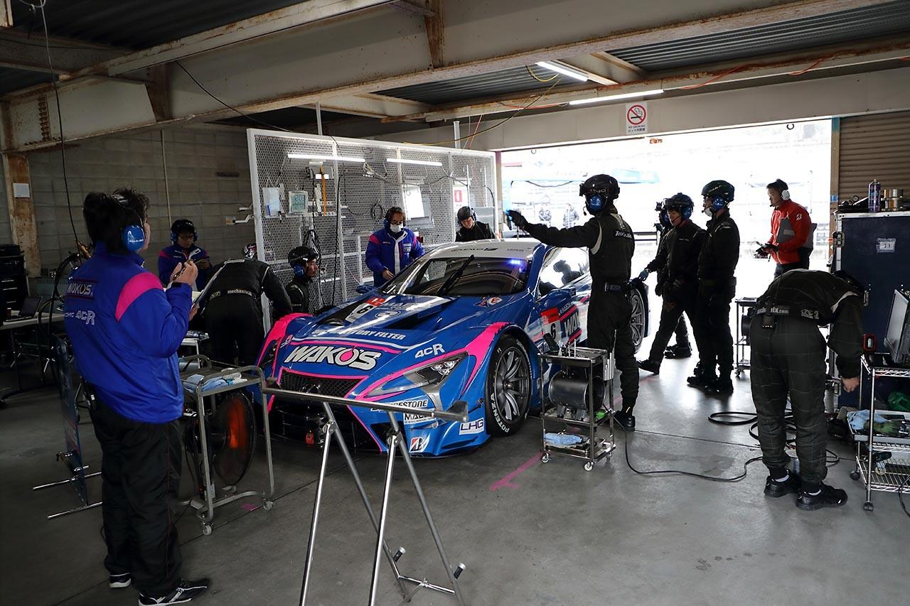 スーパーGT岡山メーカーテスト:2日目もサード1号車最速。ルマン6号車が2番手に