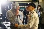 バルセロナテスト3日目、ガレージ内でのボッタス