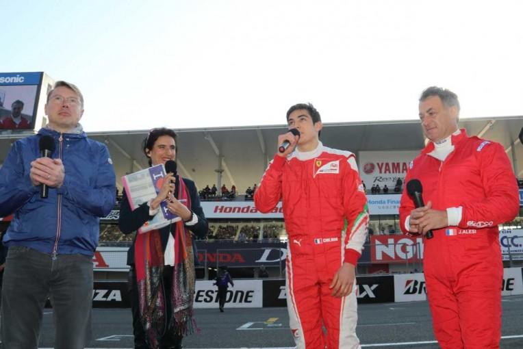 F1   アレジ親子との貴重な3ショットも。ミカ・ハッキネンが16年ぶりに鈴鹿サーキットへ登場