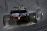 2017年第1回F1合同テスト4日目 ロマン・グロージャン(ハース)がフルウエットタイヤで走行