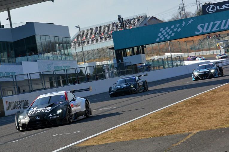 スーパーGT | 鈴鹿ファン感謝デーでスーパーGTのデモレース開催。3メーカーの新GT500車両そろい踏み