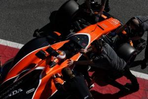 2017年第2回F1合同テスト3日目 ストフェル・バンドーン(マクラーレン・ホンダ)