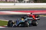 2017年F1テスト ルイス・ハミルトン(メルセデス)とセバスチャン・ベッテル(フェラーリ)