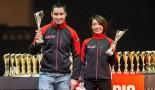 FRC第3戦で3位表彰台を獲得したヤルッコ・ニカラ/足立さやか組(スバル・インプレッサWRX)