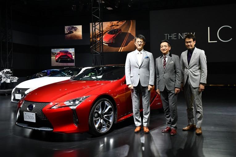 スーパーGTでもベースモデルとして採用されるLC500の市販モデルがお披露目された。