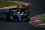 2017年第2回F1プレシーズンテスト4日目 ルイス・ハミルトン(メルセデス)とマックス・フェルスタッペン(レッドブル)