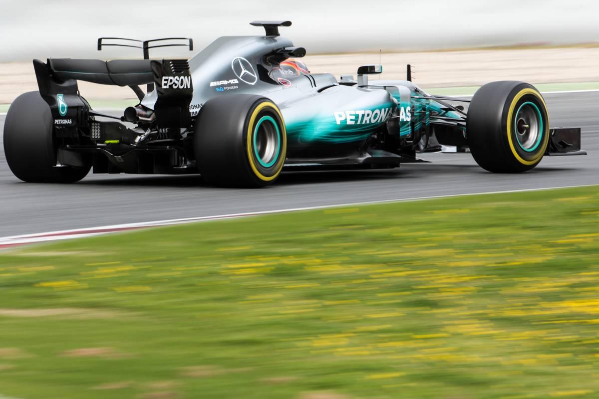 F1オフシーズンテストでのルイス・ハミルトン