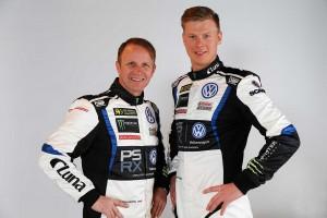 PSRXフォルクスワーゲン・ワールドRXスウェーデンからWorld RXに参戦するペター・ソルベルグ(左)とヨハン・クリストファーソン(右)