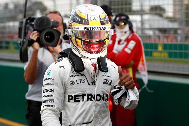 F1 | F1オーストラリアGP予選:ハミルトンがコースレコード更新、ベッテルは2番手