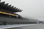 降雪により雪化粧となった富士スピードウェイ。スーパーGT公式テストのセッション3は中止となった。