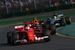 2017年第1戦オーストラリアGP セバスチャン・ベッテル(フェラーリ)、マックス・フェルスタッペン(レッドブル)、ルイス・ハミルトン(メルセデス)