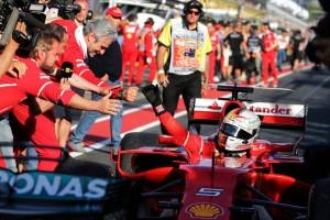 2017年F1開幕戦オーストラリアGP 逆転勝利を飾ったセバスチャン・ベッテル