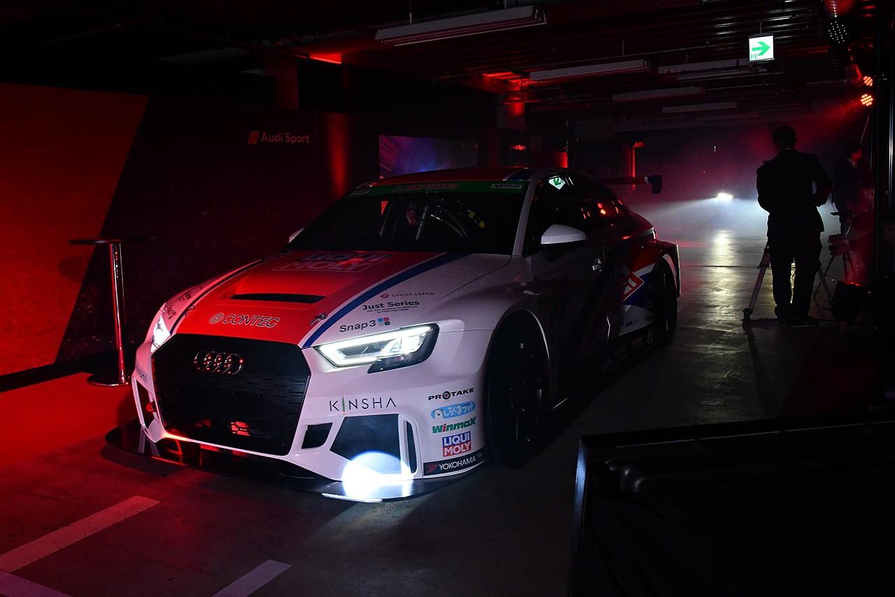 アウディ、今季も日本で積極的にモータースポーツを活用。盛大に発表会開催