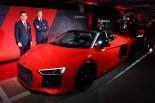 Audi Sport GmbHのマネージングディレクターを務めるステファン・ヴィンケルマンも来日した。