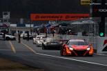 NSX-GTは今年もFR勢とは異なる重量でレースを戦うことになる。写真は3月のスーパーGT岡山公式テスト