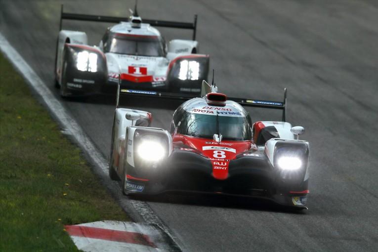 2日間の総合トップとなったトヨタ8号車TS050ハイブリッド