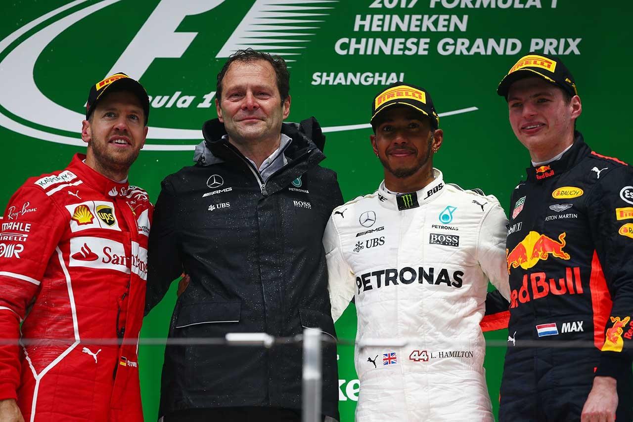 2017年F1中国GP表彰台