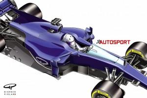 """F1コクピット保護デバイスの新案""""シールド""""の予想図"""