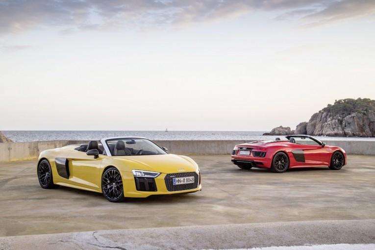 クルマ   高回転型V10自然吸気は健在。アウディ、新型『R8スパイダー』が7月上陸