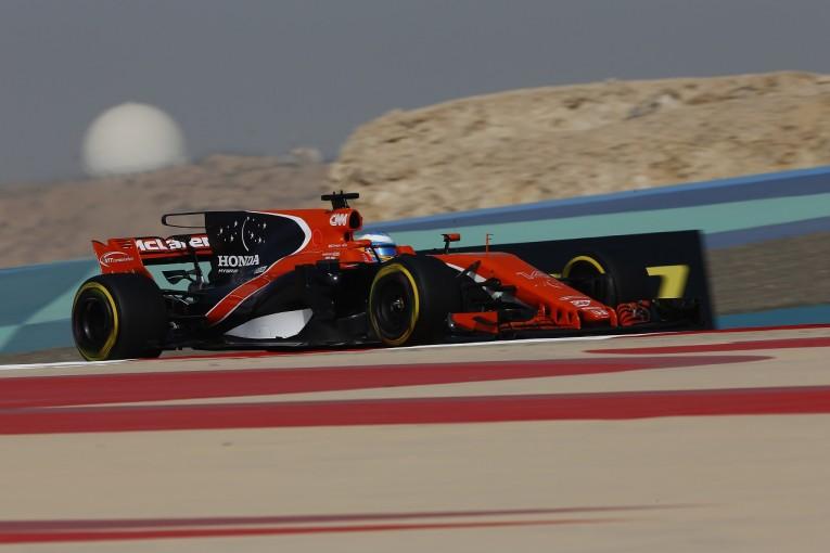 F1   アロンソ「最速との差が今季最小。目標に一歩一歩近づいていく」マクラーレン・ホンダ F1バーレーンGP金曜