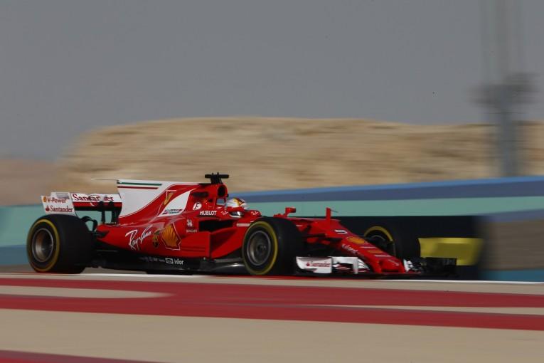 F1 | 首位ベッテル「シャットダウンの原因は分からない。予選へ好感触も課題あり」フェラーリ F1バーレーン金曜